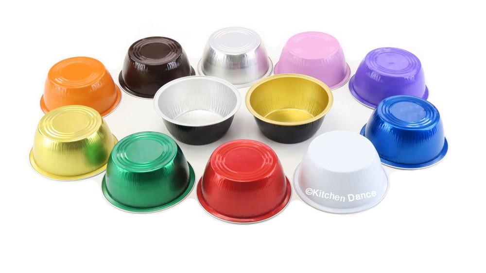 disposable aluminum foil 4 oz. ramekins, individual serving size desert cup, baking pans