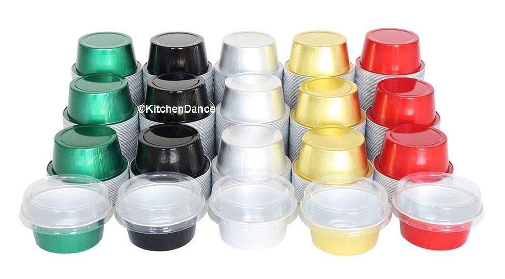 disposable aluminum foil 1½ OZ. dessert cups, individual serving size