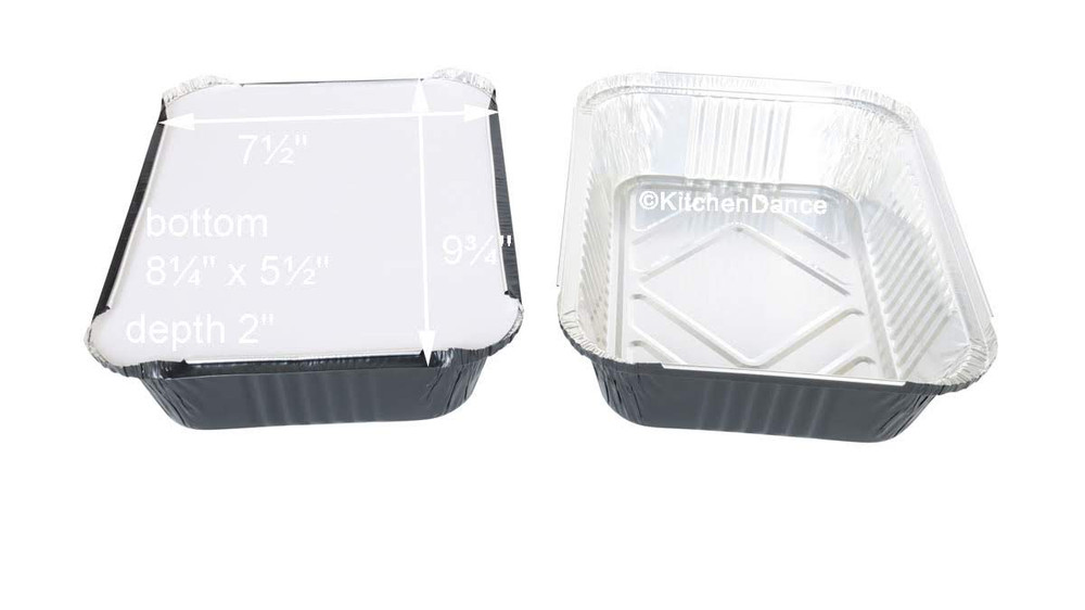 Colored Disposable Aluminum 3.75 Pound Carryout pan w/ Board Lid #3227L
