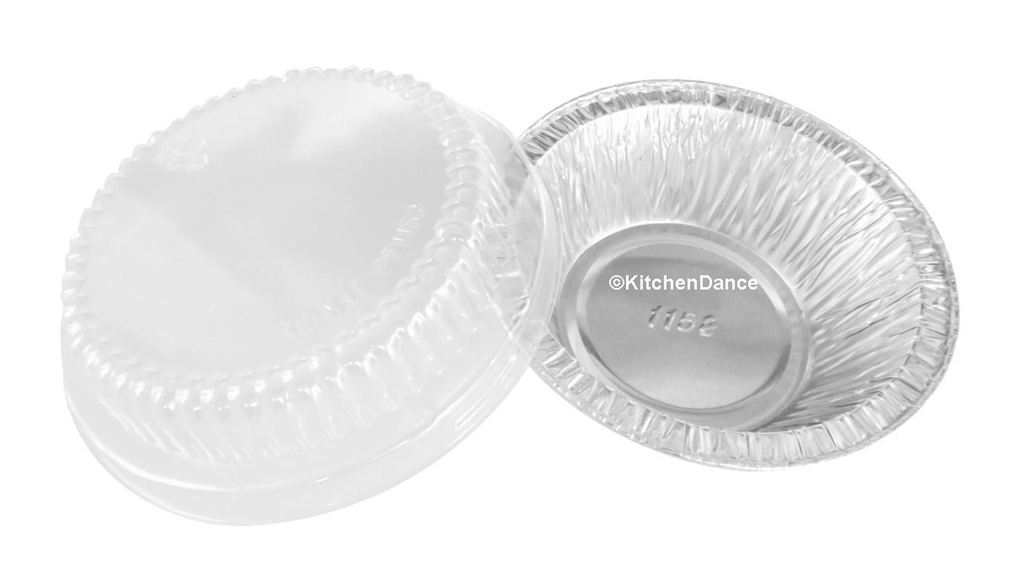 4 Quot Deep Foil Tart Pan W Plastic Lid