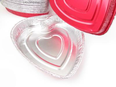 Disposable Aluminum Heart shaped Foil Cake Pan  #339NL