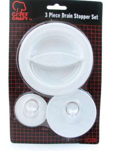 Flexible-Plastic Sink/Drain Stopper Set - #21232