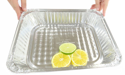 Disposable Aluminum Foil Half Size Steam Table Pan - Medium Depth