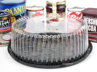 "9"" Plastic Display Cake Container - for 1-2 layers - #WG25"