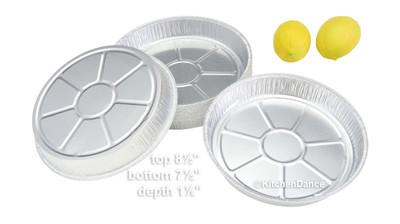 """disposable aluminum foil 8"""" round shallow cake pan, baking pan"""
