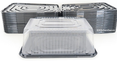 Quarter Sheet-Cake-Size High-Dome Plastic Container