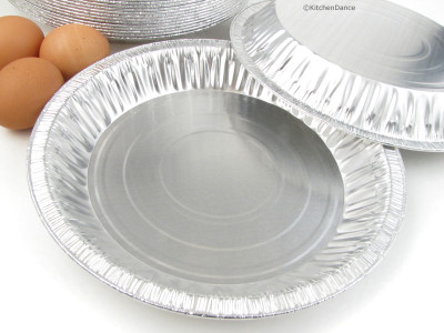 "disposable aluminum foil deep 10"" pie pan, pie pin"