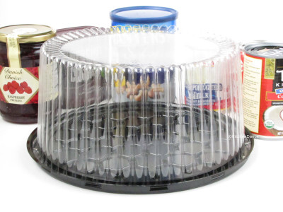 "9"" Display Cake Container - for 2-3 layers"