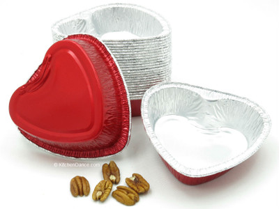 Disposable aluminum foil Medium Size Heart-Shaped Pan