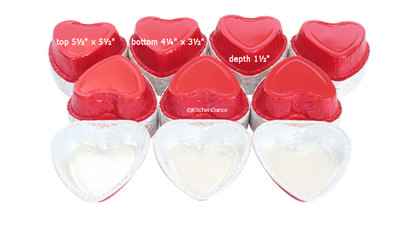 disposable aluminum foil medium-size heart-shaped pan, holiday baking