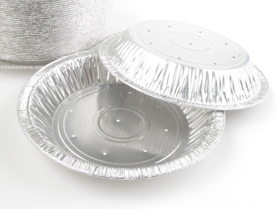 "8"" Perforated Foil Pie Pan - Deep - #816perf"