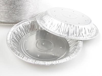 "8"" Perforated Foil Pie Pan - Deep"