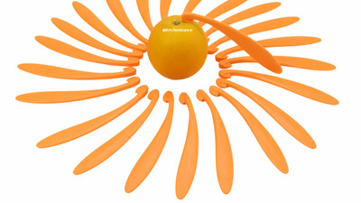 plastic orange peelers