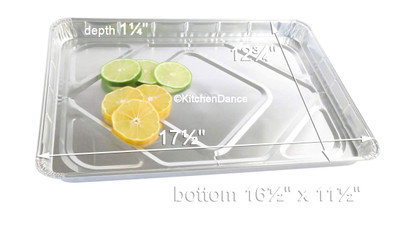 disposable aluminum foil half size sheet cake pan, baking pan, baking tray