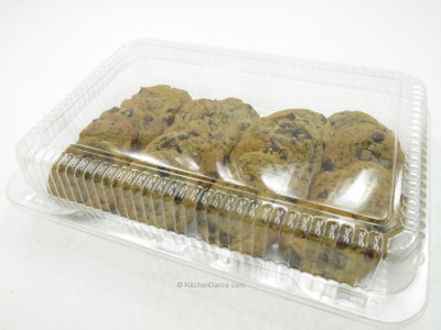 """12"""" x 8"""" Plastic Hinged Bakery Container - #CPC-77"""