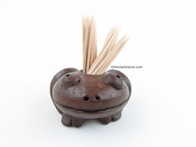 Frog Toothpick Holder