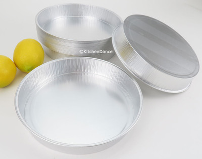 "disposable aluminum smooth wall 8"" foil cake pan"