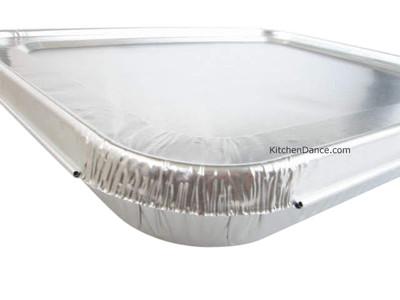 disposable aluminum foil lids for the half size steam table pans