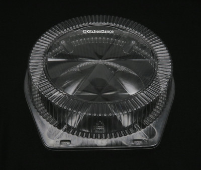 """10"""" Clamshell High-Dome Plastic Pie Container - #CPC-120"""