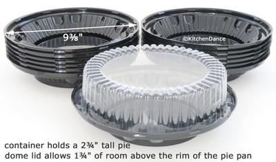 """8"""" High-Dome Plastic Pie Container - #CPC-WJ37"""