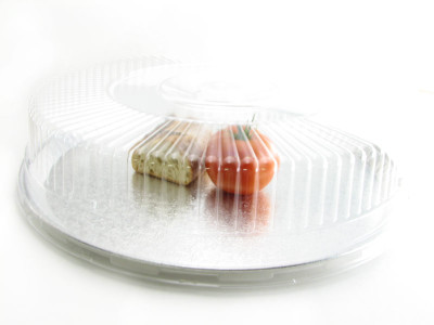 """18"""" Heavy-Aluminum Foil Catering Trays w/ Plastic Dome Lids - Pack of 10 - #18P"""