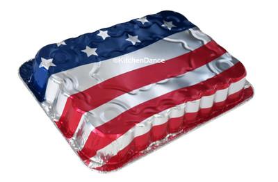 disposable aluminum foil baking pan, American Flag design