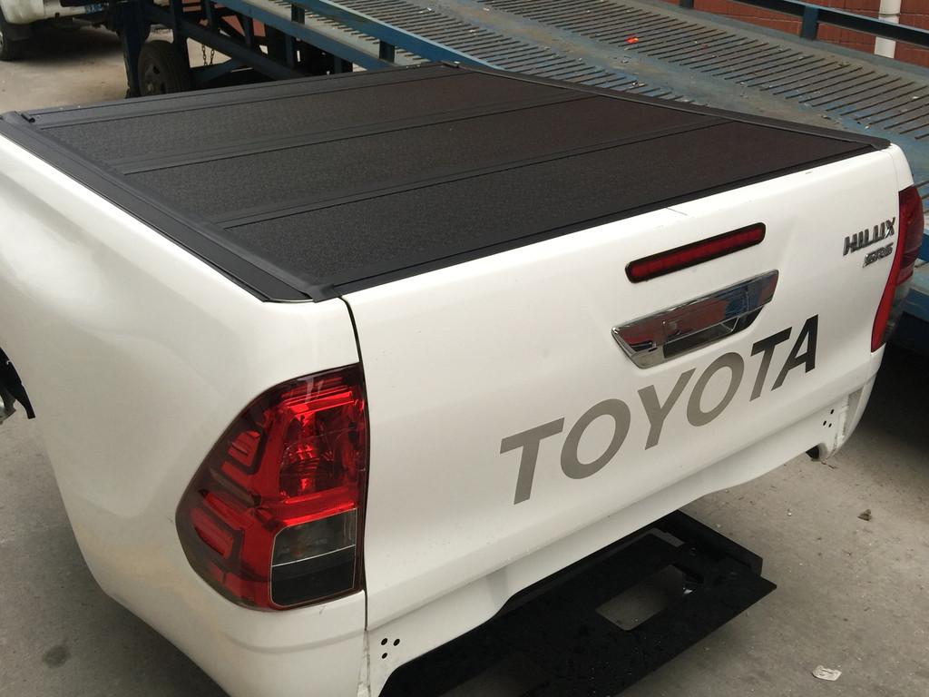 Quad-Fold Hard Lid Tonneau Cover for Toyota HiLux SR5 2015-2019