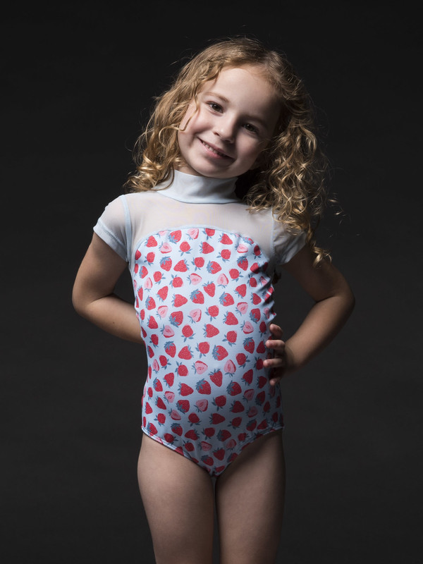 Elizabeth with Sleeves Kids Leotard