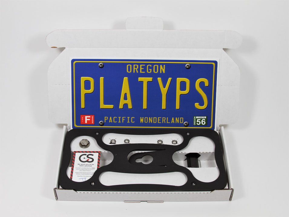 The Platypus License Plate Mount for Ford