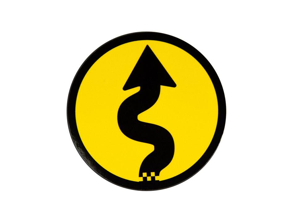 Curves Ahead Grill Badge