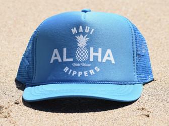 Aloha Pineapple Trucker Hat Turquoise