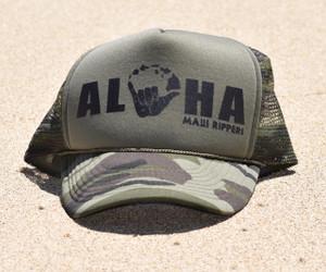 Aloha Shaka Trucker Hat Camo