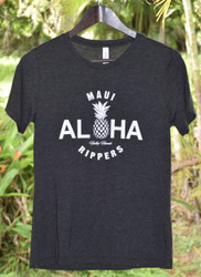 Aloha Pineapple Womens Tee - Dark Heather Grey