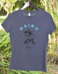 Haiku Mermaid Womens Tee - Heather Navy