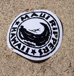"Maui Ripper Sticker Logo 3"" Round"