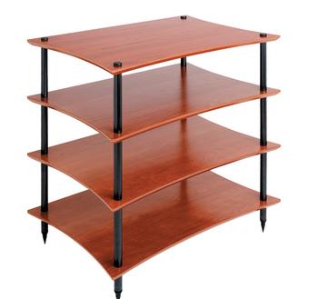 Shelves Cherry finish, black feet