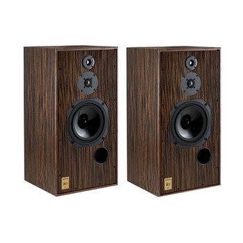 Harbeth Super HL5 Plus Loudspeakers in Tiger Ebony