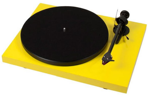 Project Debut Carbon DC Inc Ortofon OM10-Gloss Yellow