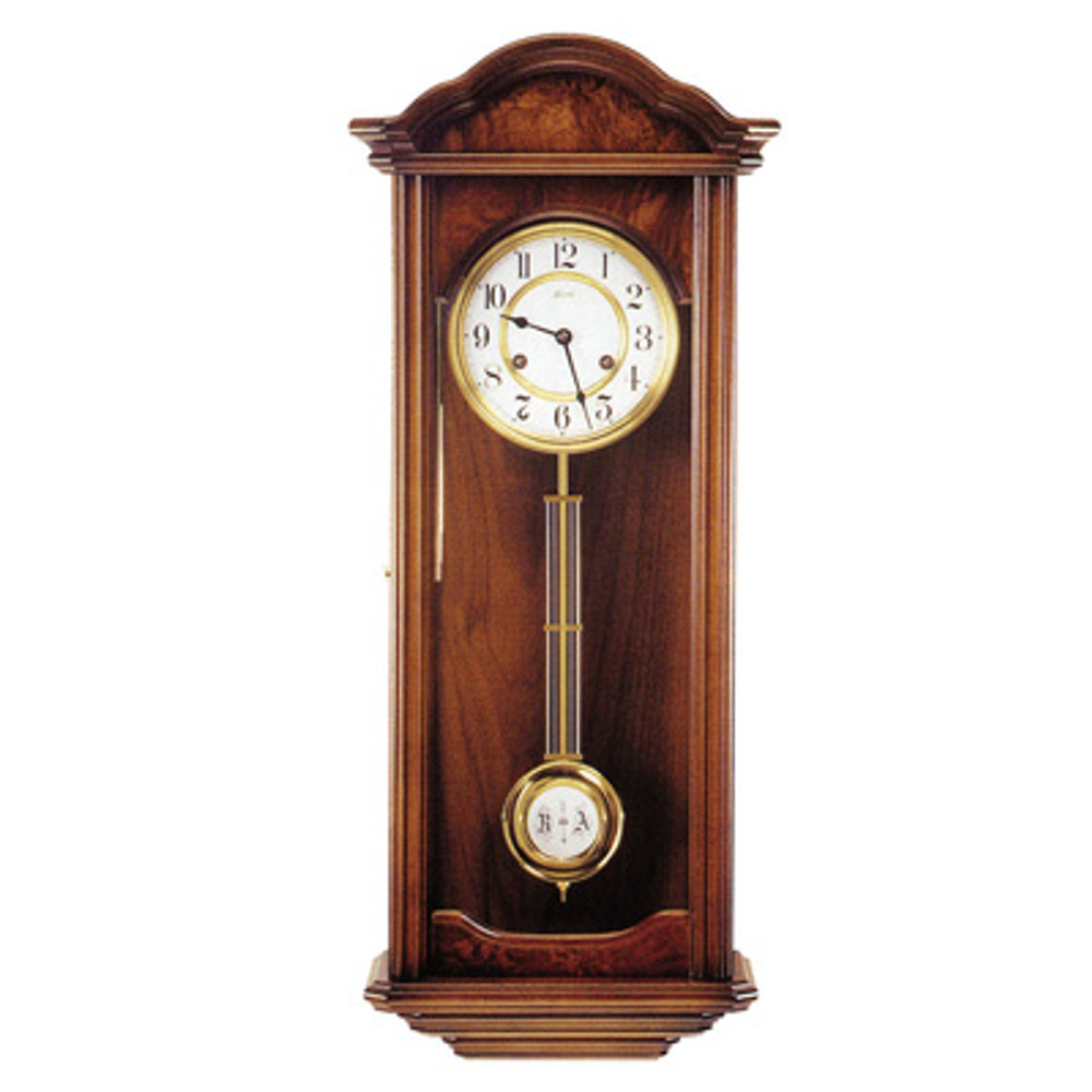 "Wall Clock - ""Ickenham"" - 4/4 Chime - Walnut Finish - Hermle"