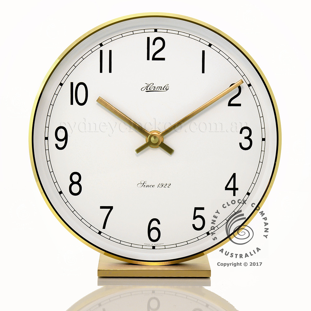 Hermle Solid Brass Table Clock ...