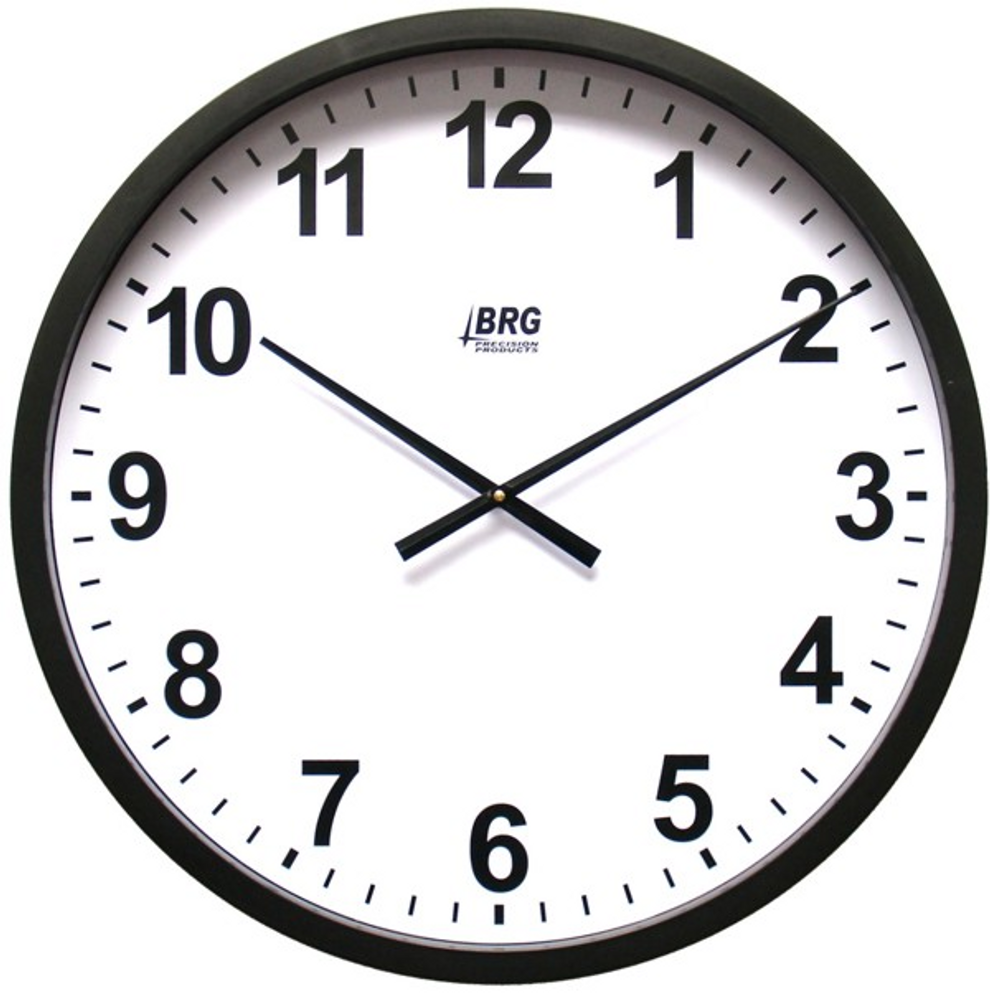 """DuraTime 22"""" Analog Clock. Black. Contact us for advice and prices."""