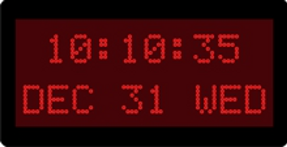 """DuraTime 10 Digit, 2 Line, 1.2"""" Red Dot Matrix LED Digital Clock. Available in RED, GREEN and Blue LED. Contact us for advice and prices."""
