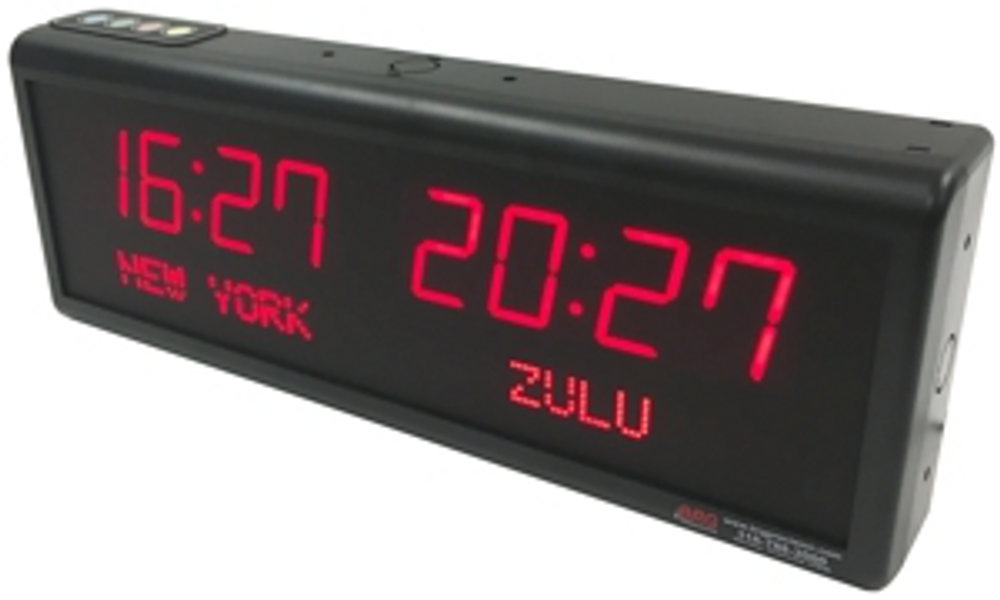 BRG TZ212  Dual Time Digital Clock with Dot Matrix place names of your choice.
