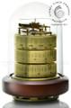 Barigo 3026 Weather Station - German Movement - Brass/Timber Base/Plexiglas Dome.Barometer.Thermometer,Hygrometer.