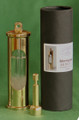 Stormglass Barometer in Polished Brass with packaging.