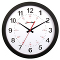 """DuraTime 12"""" Analog Clock. Black.Also available in 15"""" diameter. Contact us for advice and prices."""
