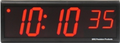 """DuraTime 6 Digit, 4.0"""" Red LED Digital Clock.Available in RED, GREEN and Blue LED. Contact us for advice and prices."""