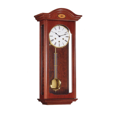 "Wall Clock - ""Oxford"" - 4/4 Chime - Walnut Finish - Hermle"