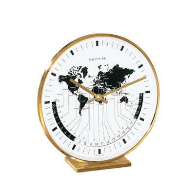 Hermle Solid Brass World Time Table Clock