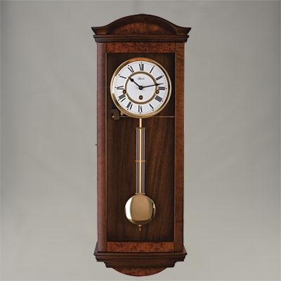"""Wall Clock - """"Pegotty"""" - 4/4 Chime - Walnut Finish - Hermle"""